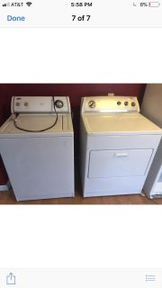 Pair of washer and dryer