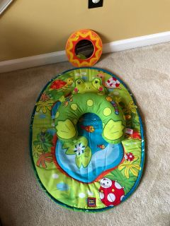 Tummy time infant baby playmat