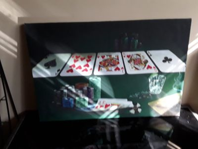 Poker and chips wall hanging brand new