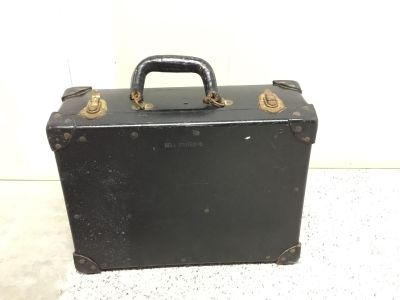 Vintage Bell System B lineman tool box with tools