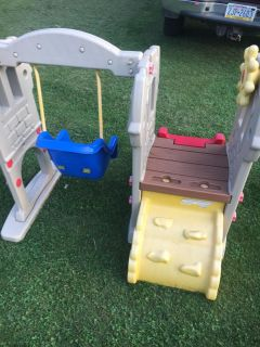 Baby swing and slide