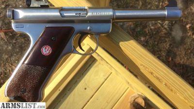 "For Sale: Ruger Mark II 22 LR Stainless Target 5 "" Bull Bbl KMK-514 EXC"