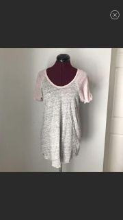 J crew top gray and pink long