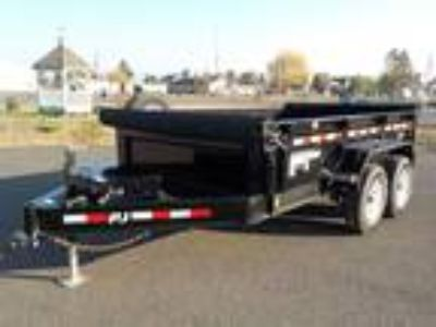 "2020 PJ Trailers Dump DL 7' x 12' 14k 28"" Low Pro"