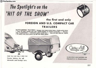 1950's 1/2 Page Carry-All Trailers Print Ad