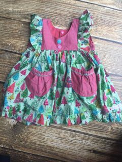 Corinna Couture Custom Holiday Dress 6-12 months