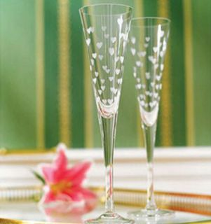 Pair of NEW Waterford Marquis champagne flutes