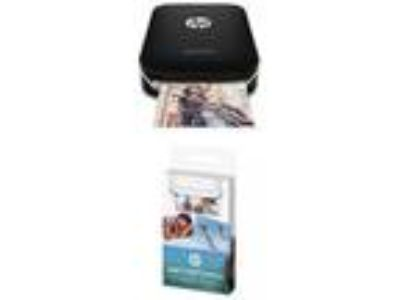 HP Sprocket Portable Photo Printer black Additional 20 Sheet