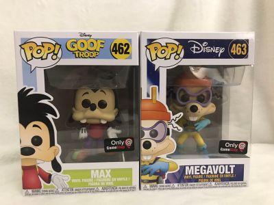 Funko pop Disney Megavolt and Max 462 and 463