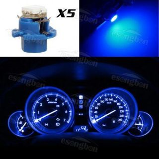 Purchase 5x B8.4 Instrument illumination Light 5050-SMD DashBoard Cluster LED Bulbs Blue motorcycle in Milpitas, California, United States