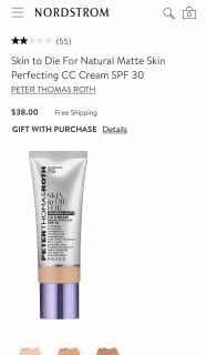 Peter Thomas Roth Skin To Die For Mineral Matte CC Cream Foundation Makeup