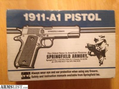 For Sale: Springfield 1911-A1