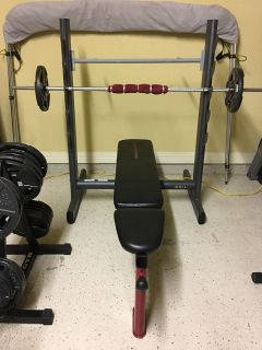 Weight ,bench,and bar set for 200$