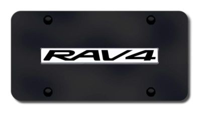 Find Toyota Rav4 Name Chrome on Black License Plate Made in USA Genuine motorcycle in San Tan Valley, Arizona, US, for US $33.38