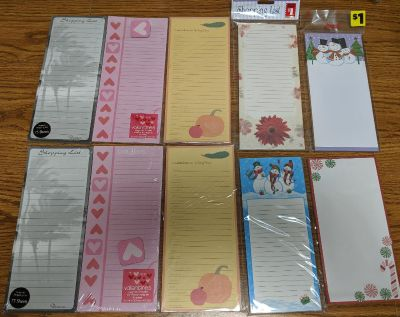 10 magnetic shopping list pads