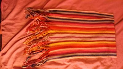 Antique rainbow color retro scarf from Italy