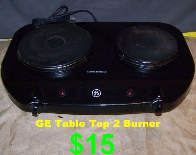 GE Space Saving Electric Double Burner. In Great Shape