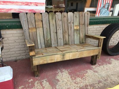 Wood Cooler Bench