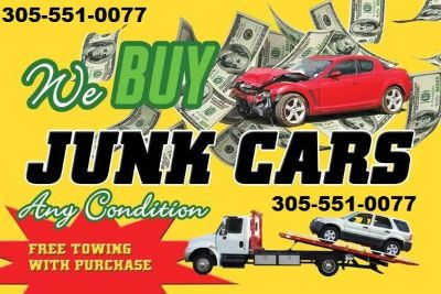 Cash for junk cars, most money for my junk car, who buys junk cars in Miami 305-551