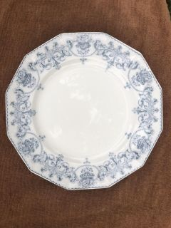 Antique Johnson Brothers England BRITTANY Blue Transfer Dinner Plate 10 1/8