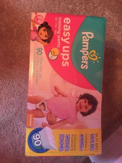 Pampers Easy Ups, new in box. 90 count