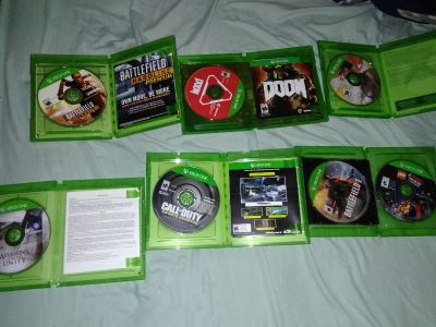 Xbox one games, Just cause 3 has been sold. The others are for sale.