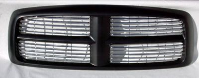 Purchase New GRILLE 02 03 04 05 dodge RAM PK Black w/chrome BEST motorcycle in Saint Paul, Minnesota, US, for US $208.00