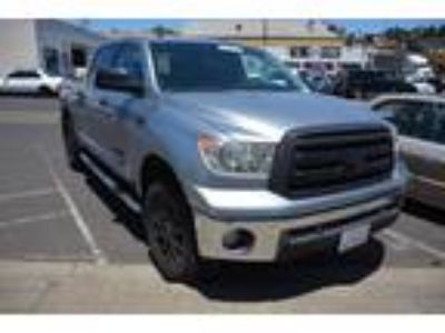 2011 Toyota Tundra SR5 4 6L V8 CrewMax 2WD SALVAGED TITLE Silver, Work Ready