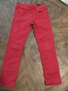 Girls 7 for All Mankind Skinny Jeans Red 7
