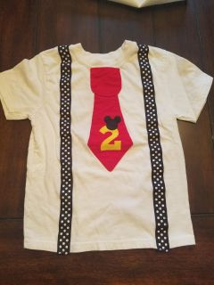 Size 3T custom Mickey Mouse themed t-shirt