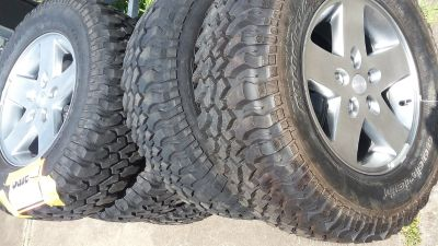 5 tires and rims