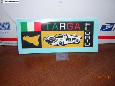 Targa Florio Qtr Window Sticker