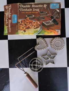 Vintage Nordicware Timbale Cookie Pastry shell maker METAL star heart NICE