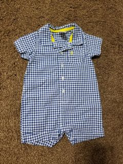 Never Worn Boys Romper 6m w/ anchor