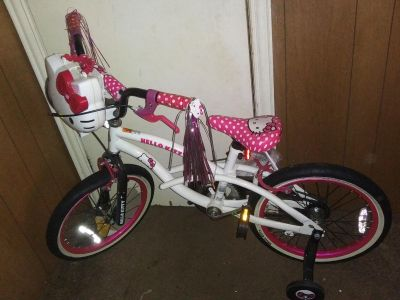"""Like New Hello Kitty 18"""" Bike No Holds Firm On Price"""
