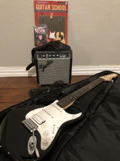 Squier Bullet Strat with Amp and Accessories