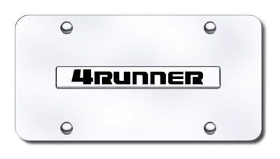Purchase Toyota 4Runner Name Chrome on Chrome License Plate Made in USA Genuine motorcycle in San Tan Valley, Arizona, US, for US $29.87