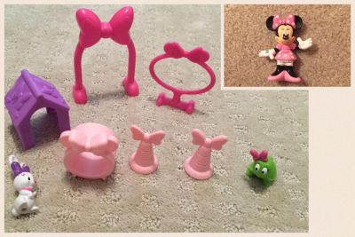Minnie Mouse and pet play thing