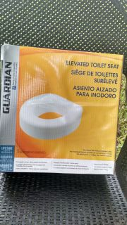 New in Box: Guardian Elevated Toilet Seat ~ $12.
