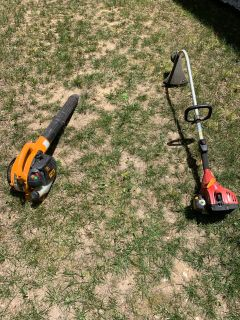 Gas leaf blower and gas weed eater