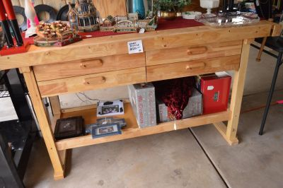 Butcher Block Type Solid Wood Tool Project Work Bench