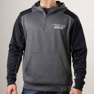 Purchase Arctic Cat Men's Wildcat Performance 1/4 Zip Hoodie Sweatshirt Gray ATV 5258-58_ motorcycle in Sauk Centre, Minnesota, United States, for US $70.99