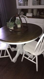 Farmhouse style table with 3 chairs