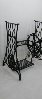 Singer sewing machine base cast iron. Great diy project