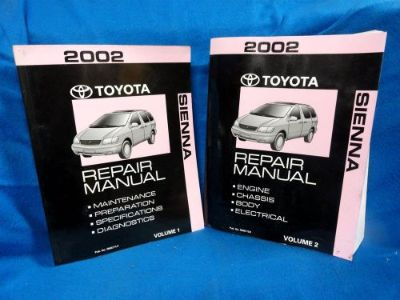 Find 2002 * TOYOTA SIENNA* OEM * DEALERSHIP SERVICE MANUALS * VOLUMES 1 & 2 motorcycle in Baltimore, Maryland, United States