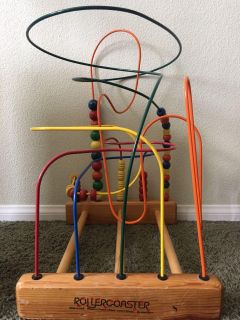 19 x 15 roller coaster wooden toy