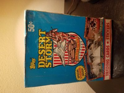 TOPPS 1991 DESERT STORM TRADING CARDS/STICKERS