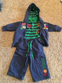 Mickey Mouse outfit size 12 months