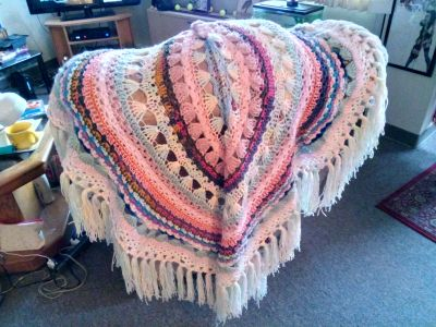 Beautiful handcrafted crocheted blanket