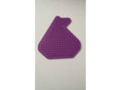 Perler Pegboard peg board shape purple sail boat ship